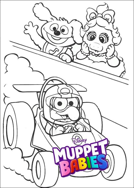 Disney Muppet Babies Racing Car Coloring Sheets Baby Coloring Pages Bear Coloring Pages Horse Coloring Pages