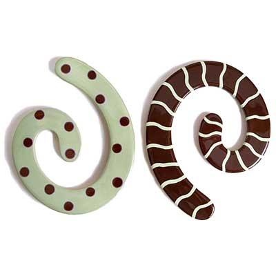 Chocolate Mint Spiral Trivet Twist Set $22