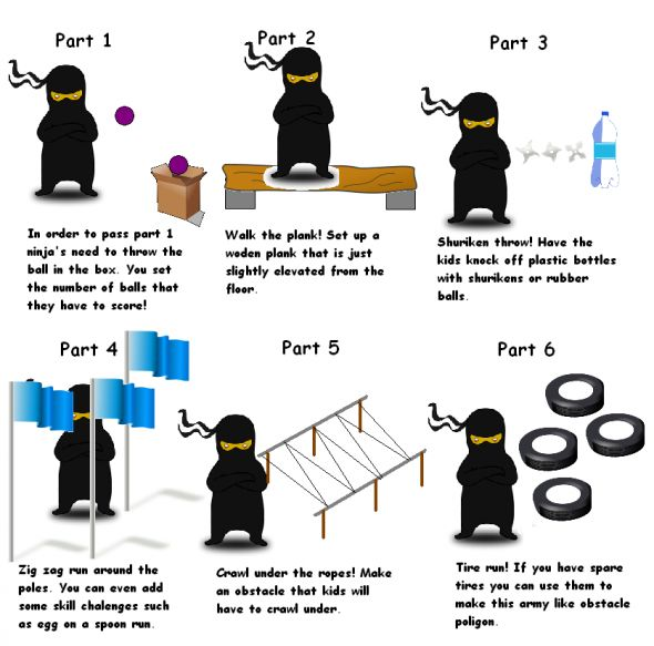 Aint no party like a ninja party ...for kids
