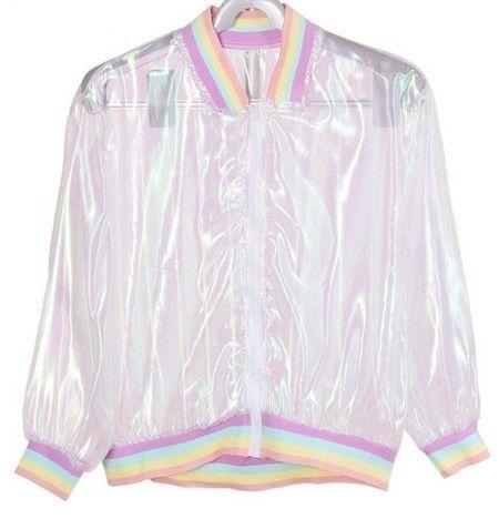Jaqueta transparente arco-íris