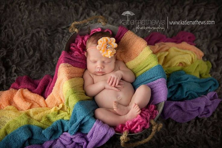 Rainbow baby - newborn portrait session