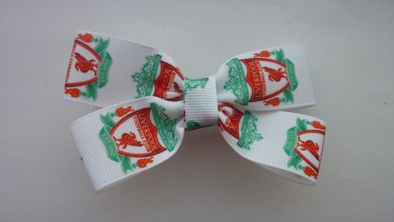 show your support for l'pool with this simple and elegant bow. Liverpool Football Club hair bow by Youaresocute on Etsy