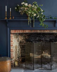 Panelling and fireplace