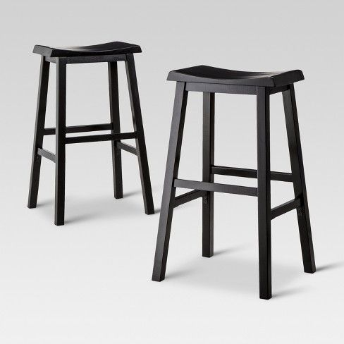The Trenton Saddle Seat Barstool From Threshold Is Simple Yet