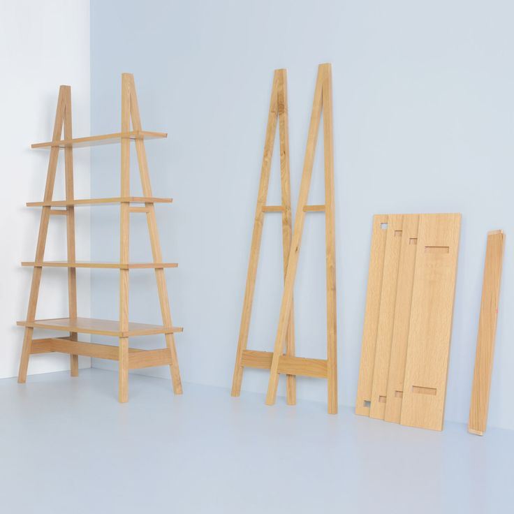 Flat Pack Furniture Just Got Interesting No Glue No Screws Ambrose A Frame Shelving System
