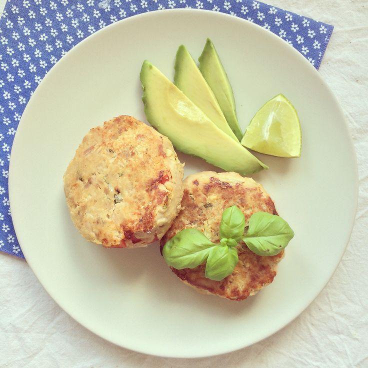 Burgers de thon & pois chiche aux poivrons – Bowl & spoon