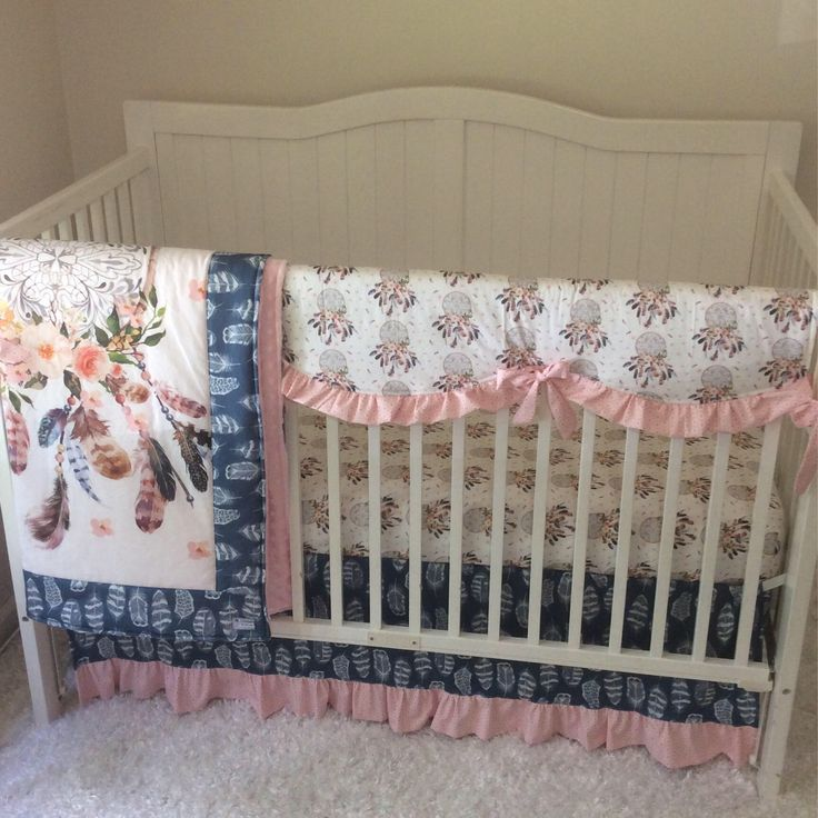 Dream Catcher Crib Bedding Alluring 8 Best Boho Nursery Crib Bedding Ideas With Dreamcatchers Feathers Decorating Design