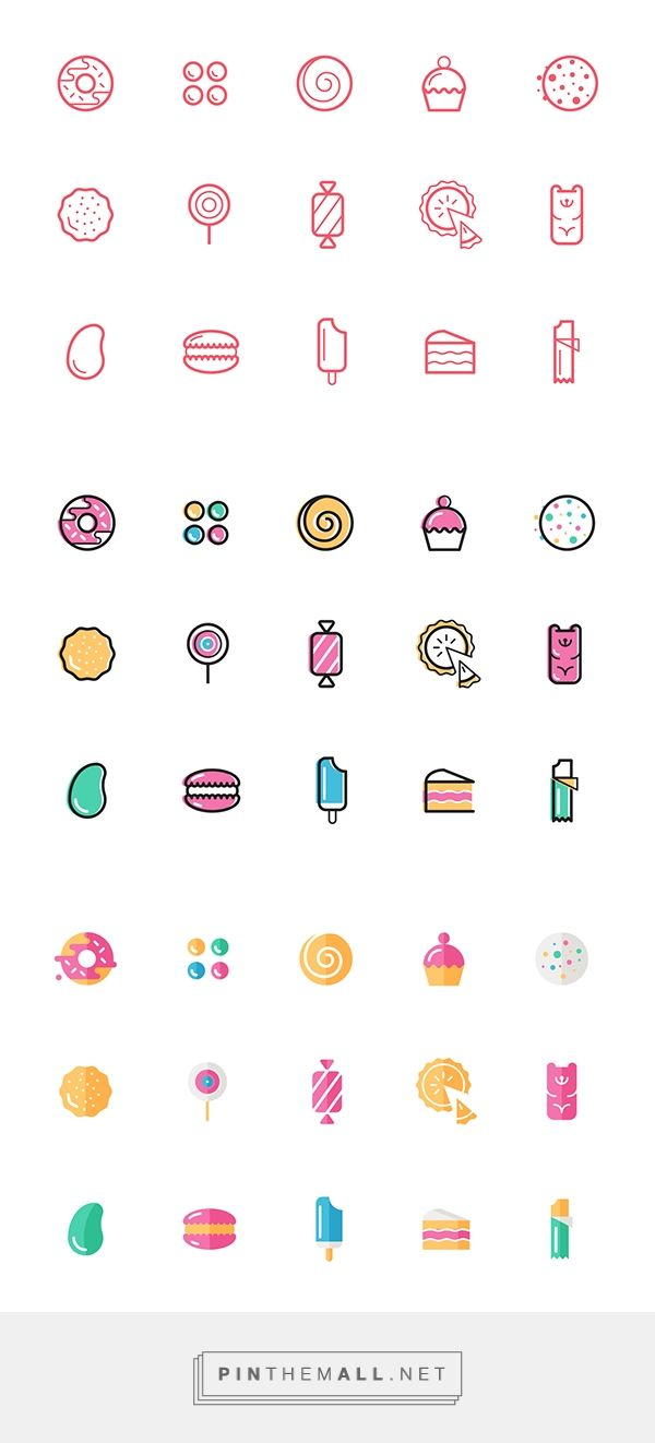 Candy Icons on Behance - created via http://pinthemall.net