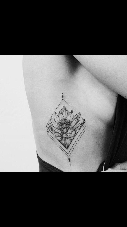 fine line, black and gray, dot work geometric tattoo