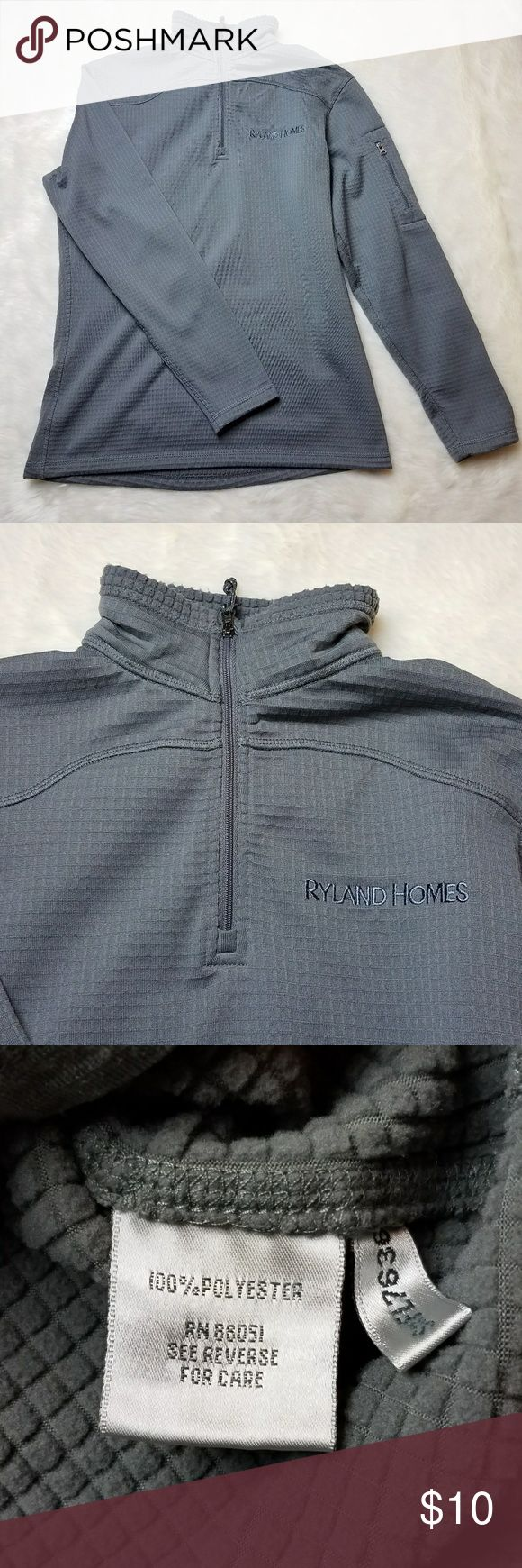 Ryland Homes Quarter Zip Fleece Shirt - Long sleeve - 100% polyester - Zipper on arm for keys/small items - Quarter Zip - Gentle preowned condition - No known flaws Tops Sweatshirts & Hoodies