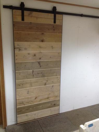 Schuifdeur steigerhout en staal | Restoric
