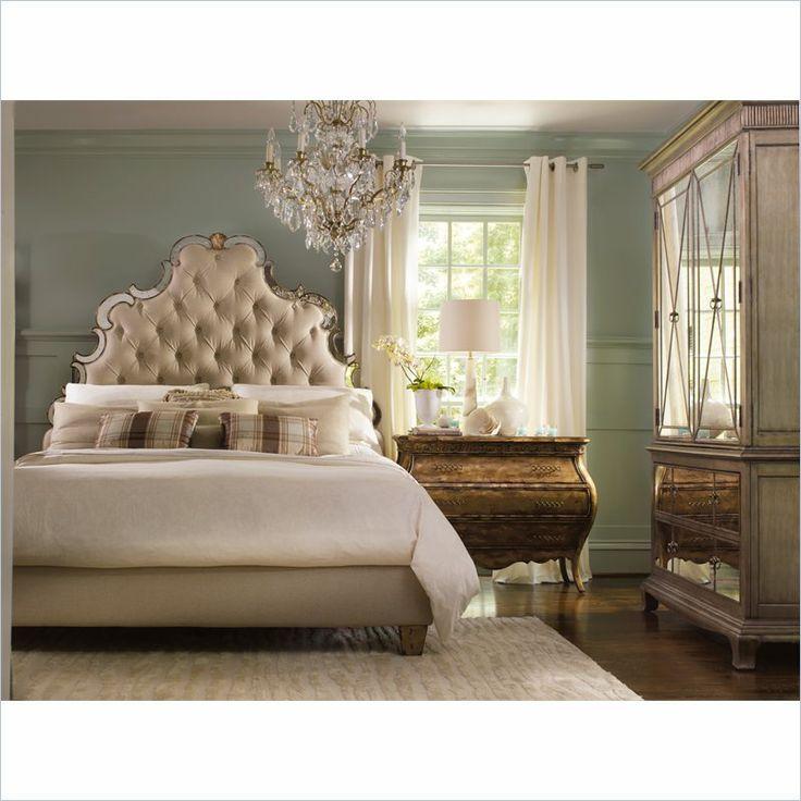 Hooker Furniture Sanctuary Tufted Bed In Bling Hooker Furnituremirrored Bedroom