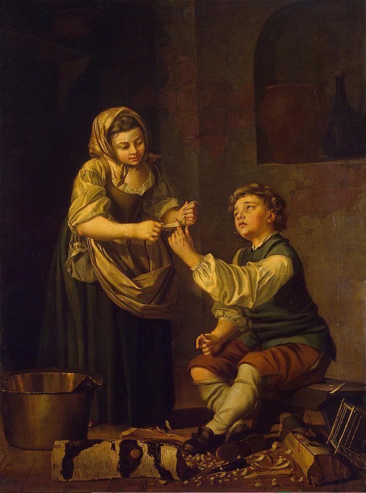 Barn plåstrar om ett finger ca 1781 The State Hermitage Museum