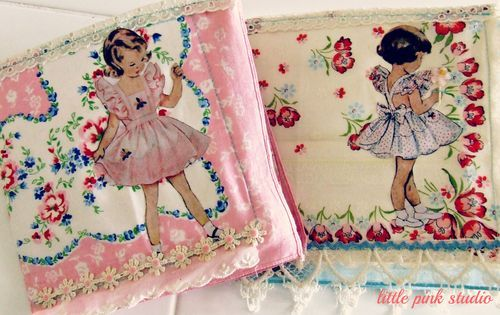 Tuesday tutorial: Vintage hankie journals - Little pink studio