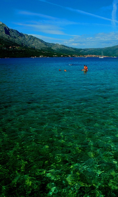 more korcula.  the water is amazing, especially with that mountain backdrop!