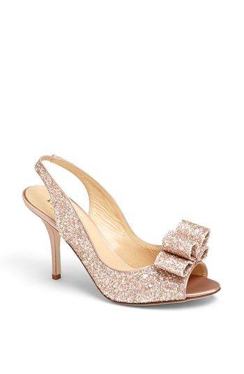 Rose gold shoes!!!!! kate spade new york 'charm' slingback pump   Nordstrom