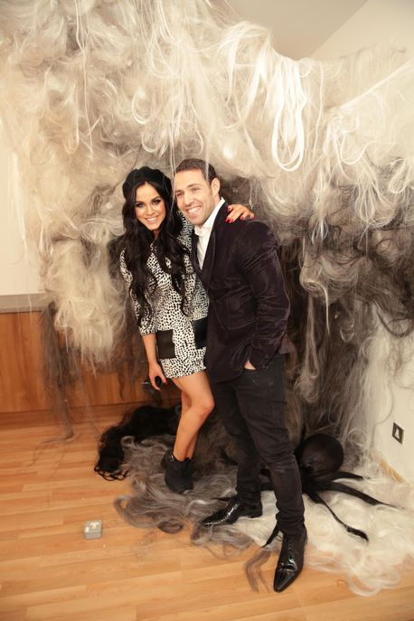 James Bushell and Geordie Shore star Vicky Pattison at the opening of James Bushell's new Solihull hair salon, by Manos Koukakis