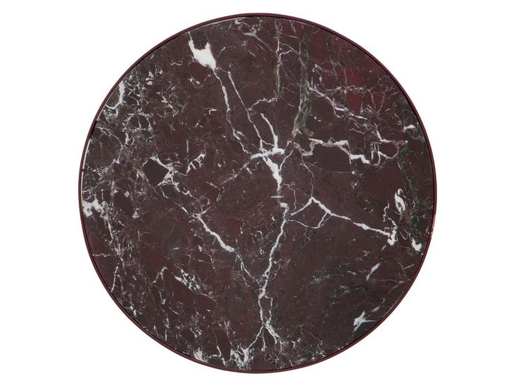 Buy the Ferm Living Marble Table Red at Nest.co.uk