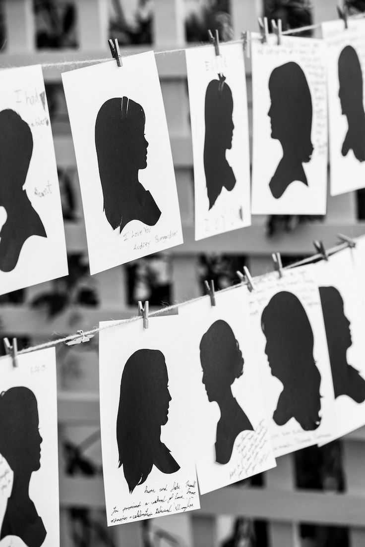 Wedding - Day - Of Silhouette Artist . Love this idea! Guest book alternative. See the full wedding on #SMP here: http://www.StyleMePretty.com/2014/04/28/glamorous-garden-affair-in-beverly-hills/