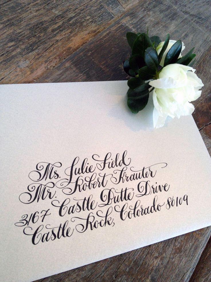 designsgirl wedding envelope calligraphy