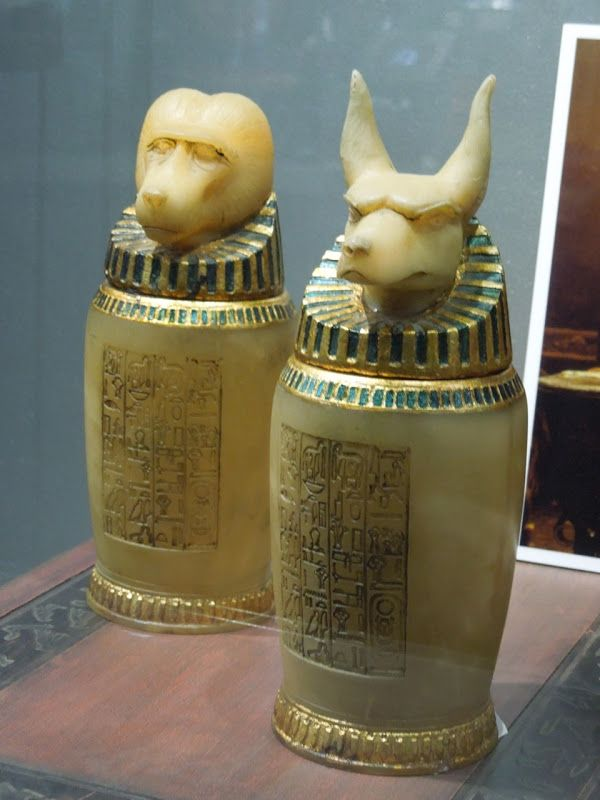 The Mummy Canopic Jars movie props