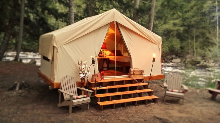 Camping in comfort with Pinnacle Tents canvas tent