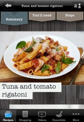 Jamie Oliver's 20 Minute Meals app helpt je met het kopen, voorbereiden en koken van maaltijden. Voor deze applicatie heeft hij 50 recepten geschreven, die ieder in 20 minuten te bereiden zijn.