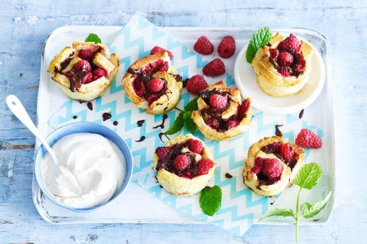 Goodmorning sunshine! Deze wentelteefjes-muffins zijn gegarandeerd een hit op de brunchtafel. - recept - Allerhande
