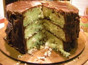 Our family birthday cake for over 60 years! Bonnie Butter Cake with Mama's Fudge Icing--Part I-Cake Recipe Part 2: http://www.justapinch.com/recipes/dessert/cake/bonnie-butter-cake-with-mamas-fudge-icing-part.html