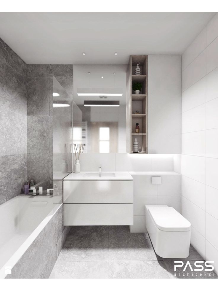 Łazienka styl Minimalistyczny - zdjęcie od PASS architekci