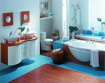 Pics Of Bathroom Decorating in Blue Brown Colors Chocolate Inspiration