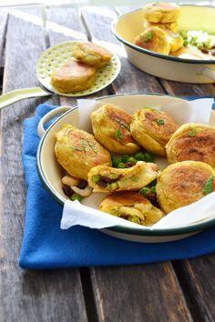 Vegan - Galettes de pomme de terre à l'indienne Aloo tikkis sans gluten