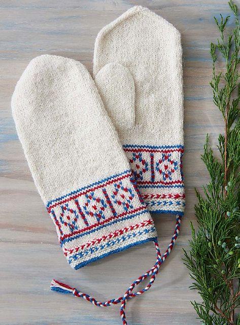 Ravelry: Skolt Saami Mittens pattern by Laura Ricketts