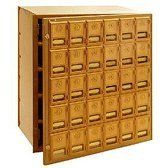 30 Door Brass Cluster Mailbox-Front Loading by Salsbury Industries. $829.15. 30 Door Brass Cluster Mailbox-Front Loading