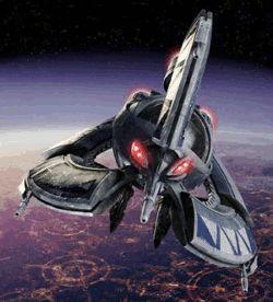 Tri-fighter (droid-myśliwiec). Źródło obrazka: Zemsta Sithów, Lucasfilm