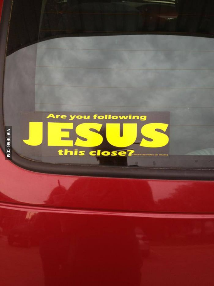 Bible belt bumper stickers sometimes win