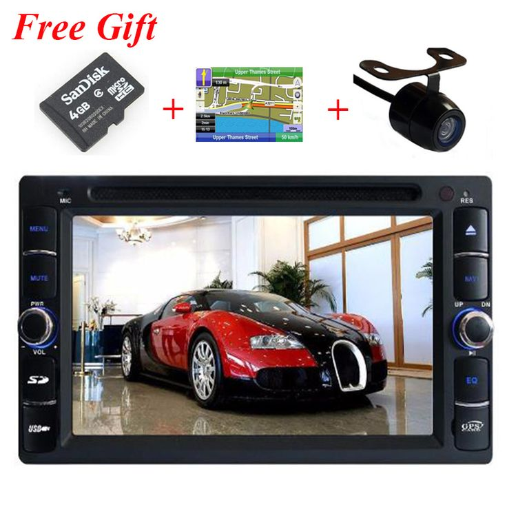 Universal in dash 2 din car dvd player with Radio bluetooth ipod  rds GPS dual zone + free gps map + free rear view camera