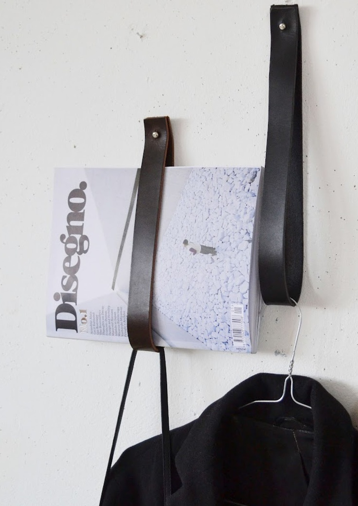 Simple but brilliant ideas are always the best. Just like those beautiful minimalistic leather Strap Hangers from swedish designer Mathilda Clahr, you can buy it through her blog or just try to do DIY home option