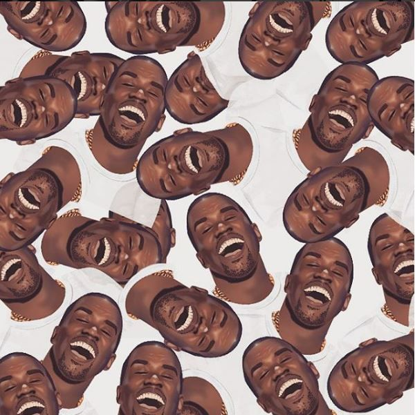 Saturday afternoon mood : Kanye West smile ! Did you already get the #kimoji ? #people #kimkardashian #kanyewest