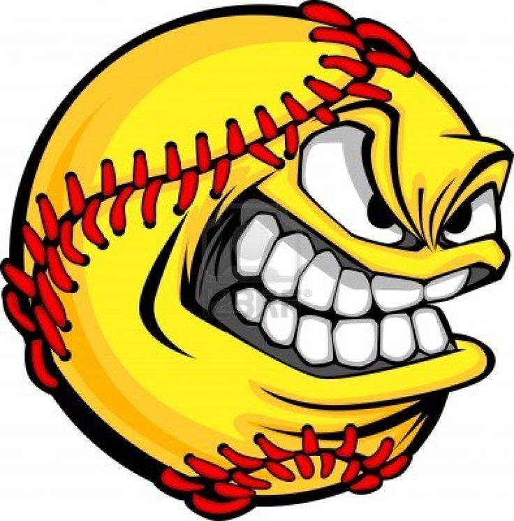 Fastpitch Softball | 13092076-cartoon-fastpitch-softball-with-mean-face.jpg