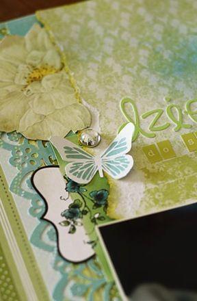 motyl wycięty z papieru kolekcji Radość Lata