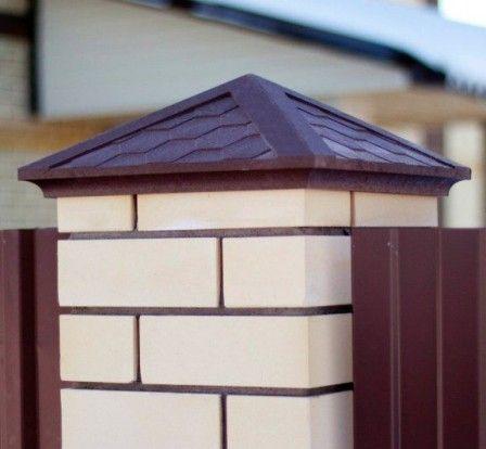 Полимерпесчаные колпаки на заборные столбы - эстетичная защита #полимерпесчаные_колпаки #колпаки_на_столбы_для_забора #строительство