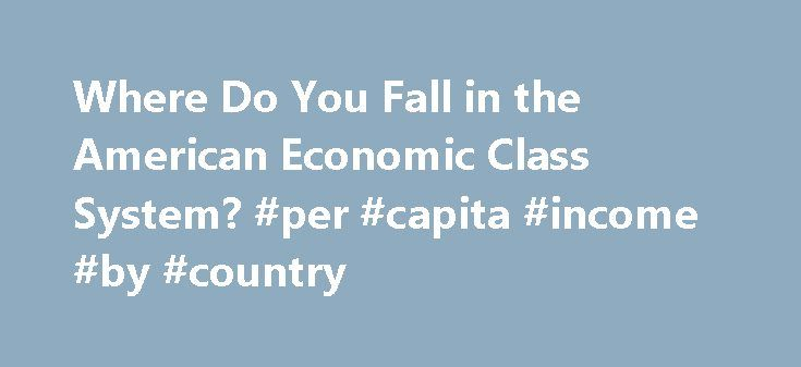 Where Do You Fall in the American Economic Class System? #per #capita #income #by #country http://income.remmont.com/where-do-you-fall-in-the-american-economic-class-system-per-capita-income-by-country/  #what is the average income in the united states # Where Do You Fall in the American Economic Class System? The Census Bureau announced Wednesday that median household income in the United States had fallen to $50,054, the lowest since 1996 and down 1.5 percent from 2010. The announcement…