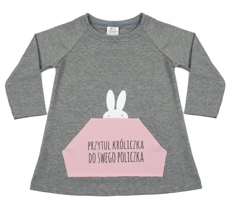 Tunika szara A kuku (sprzedawca: diverso design for kids), do kupienia w DecoBazaar.com