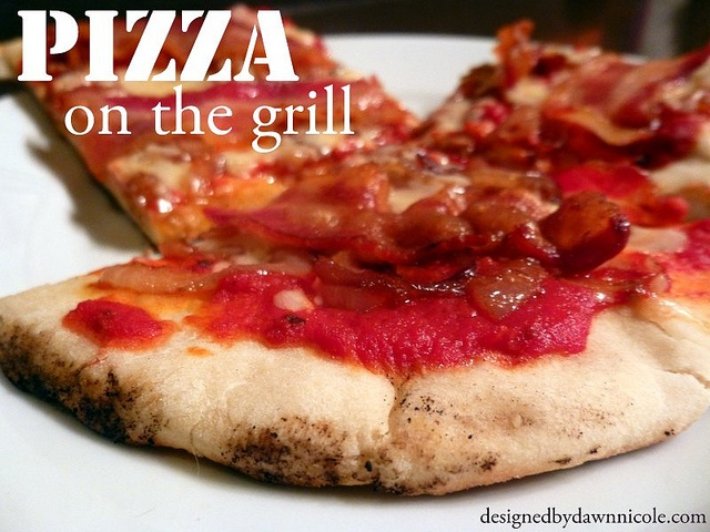 Pizza on the Grill - The closest you can get to brick oven style pizza at home by DesignedbyDawnNicole, via Flickr