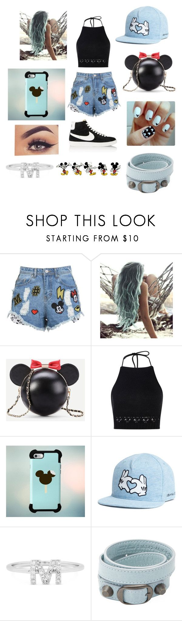 """Summer Loven#26(Mickey)"" by taco-lambert ❤ liked on Polyvore featuring Boohoo, Samsung, Plukka, Balenciaga and NIKE"