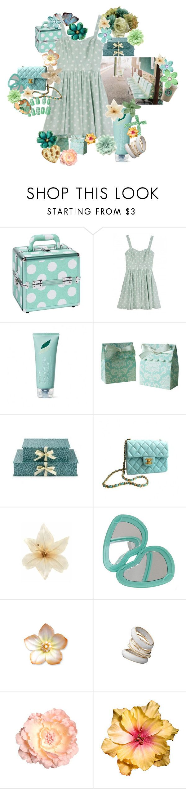 """Untitled #403"" by shanghai2 ❤ liked on Polyvore featuring beauty, PBteen, MINKPINK, Innisfree, Nina Campbell, Chanel, Dahlia, AND 1, Clips and Forever 21"