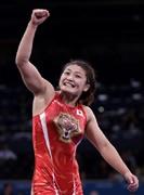 Kaori Icho,Gold medalist of Women's wrestling. London Olympic@レスリング女子63キロ級を制し、五輪3連覇を達成した伊調【写真:ロイター/アフロ】-