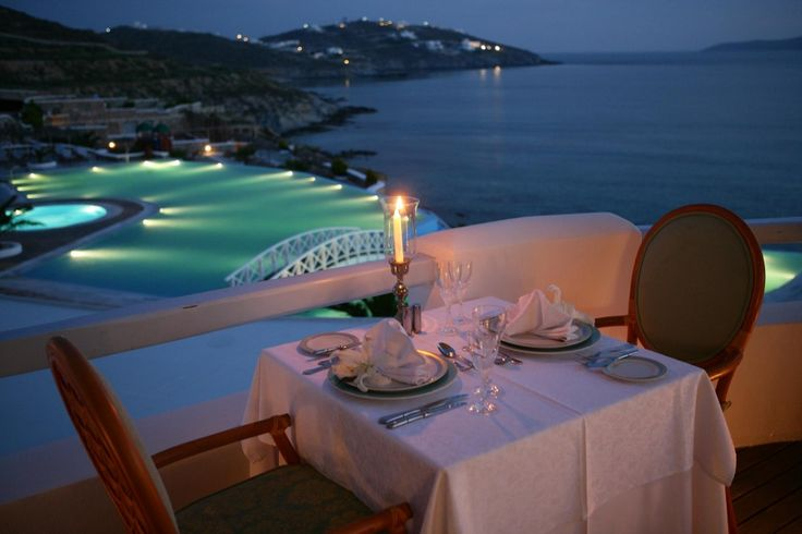 There's a reason we call it 7th Heaven as it is most romantic #dining venue of Saint John Hotel Resort Mykonos! Time to be marvelously dined and wined under the stars and moonlight of #Mykonos sky..!