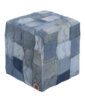 This Jean Pocket Pouf by Surya is perfect! #zulilyfinds